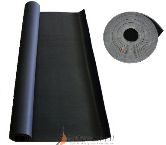 Poważne Guma 3mm 5mm 8mm antywibracyjna pod wylewkę i na ściany z rolki 1m BI49
